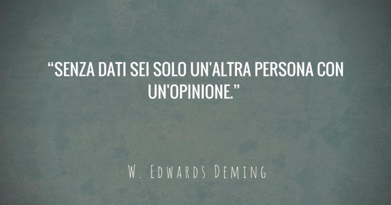 Senza dati sei solo un'altra persona con un'opinione