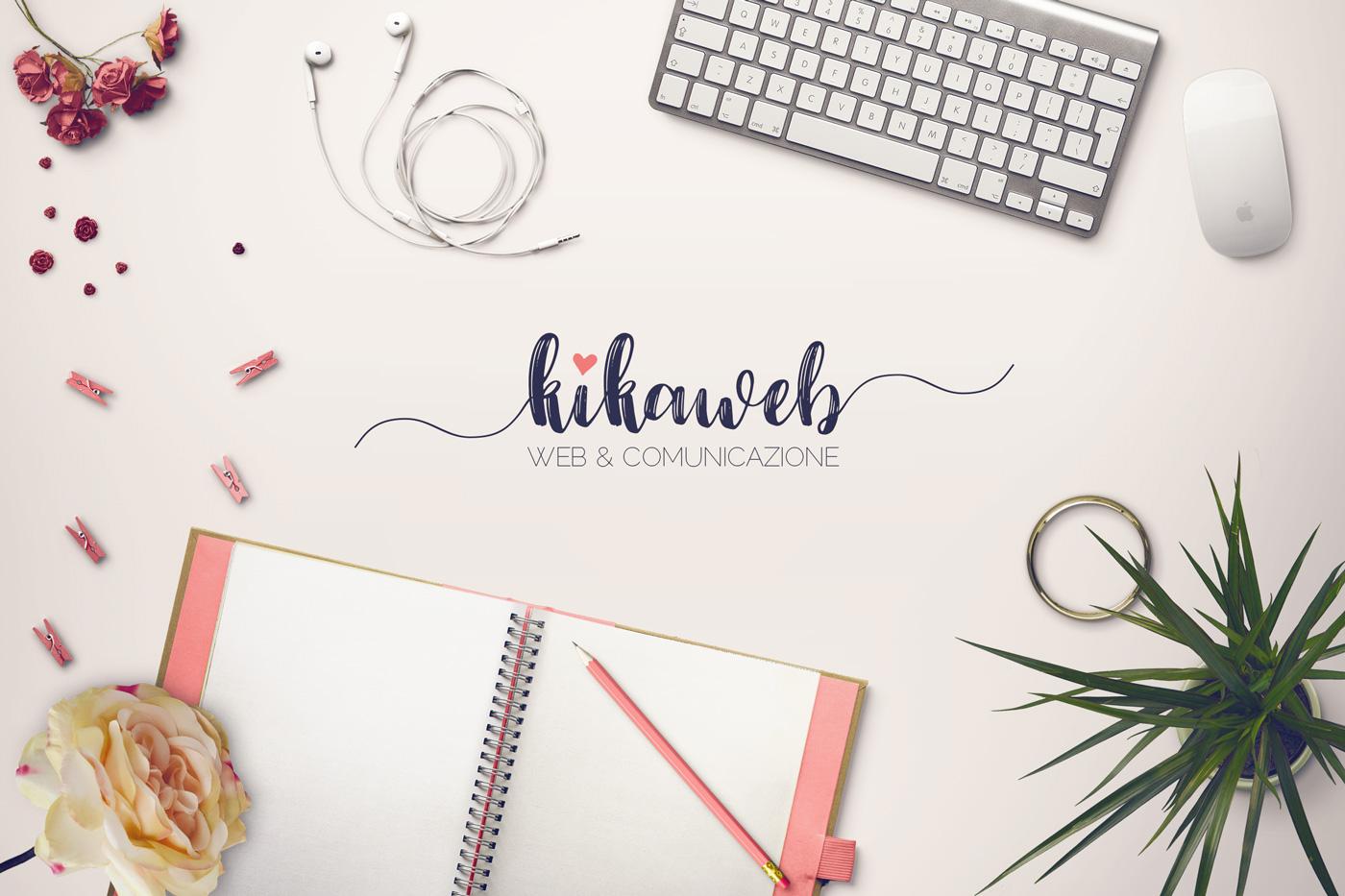 Scrivania con logo Kikaweb