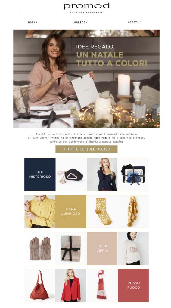 Newsletter Natale Promod Guida Regali
